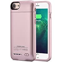 Bowei 3000mAh Rechargeable Battery Case for iPhone 7 / 8 (Rose Gold)