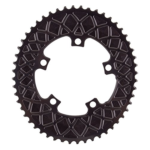 ABSOLUTE BLACK CHAINRING ABSOLUTEBLACK OVAL 110mm 52T 5B 2X BK by ABSOLUTE BLACK