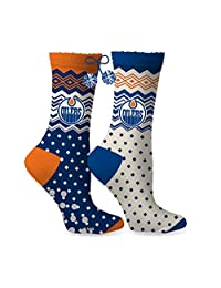 NHL Women's Edmonton Oilers No-Skid Pom Pom Slipper Socks