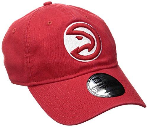 NBA Atlanta Hawks Adult Men NBA Core Classic 9Twenty Adjustable Cap,OSFA,Red