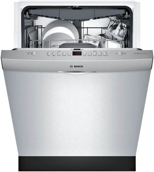 RackMatic in 3rd Rack Bosch SHS863WD5N 300 Series Built In Dishwasher with 5 Wash Cycles SpeedPerfect 16 Place Settings