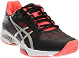 ASICS Women's Gel-Solution Speed 3 Tennis Shoe, Black/Silver/Diva Pink, 5.5 M US