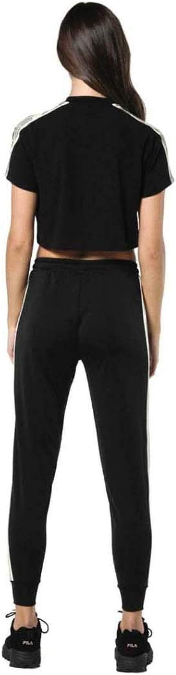 Sik Silk Camiseta Cropped Runner Tape tee Black Muj M Negro ...