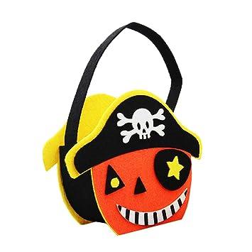 STOBOK Halloween Truco o Trato Bolsa Pirata Esqueleto ...