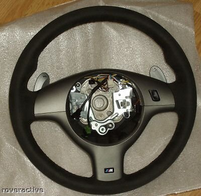 BMW E46 Genuine OEM 1999-2006 CSL M3 SMG Alcantara Steering Wheel ()