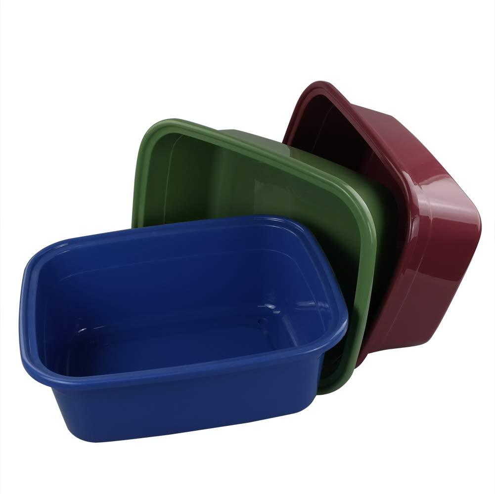 Set of 3 42 x 33 x 15 cm Eudokky Colored Rectangular Washing up Bowls