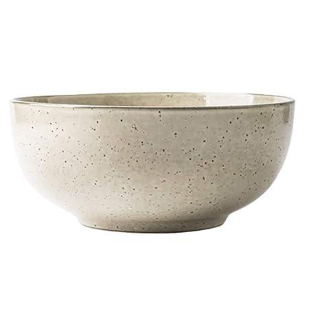YL Vajilla Tazón de Sopa Amarillo Simple Noodle Bowl Nordic Large ...