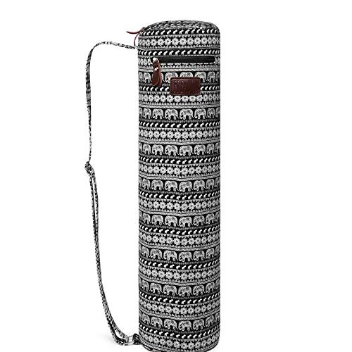 Fremous Yoga Mat Bag and Carriers for Women and Men - Double Storage Pocket - Easy Access Zipper - Adjustable Shoulder Strap and Handle (Elephant)