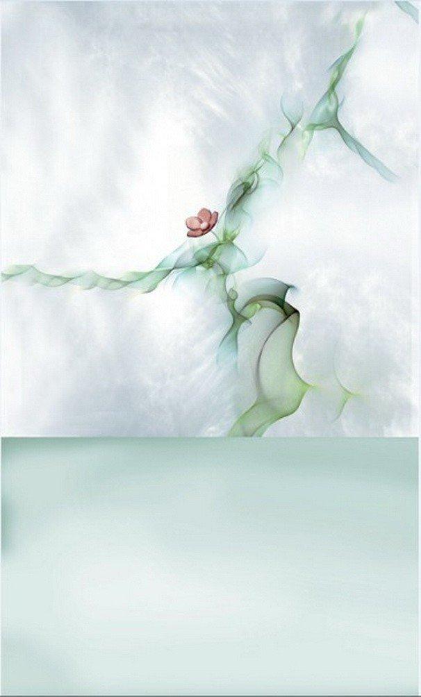 A Monamour抽象アートMottled Pale Green画像背景壁壁画ビニール写真の背景幕   B01J86K4JI