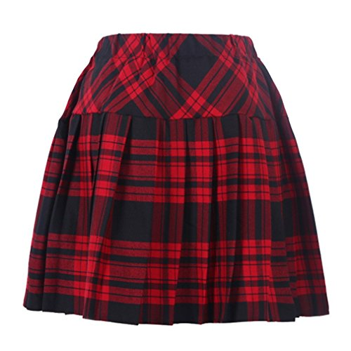 Genetic Girl's Double Layer Elasticated Pleat Skirt L