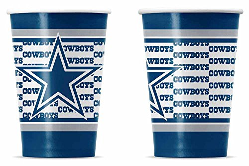 NFL Dallas Cowboys Disposable Paper Cups (20-Pack)