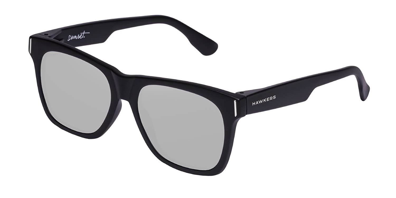 HAWKERS · SUNSET · Carbon Black · Silver  · Men and women sunglasses SUN11