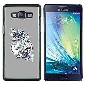 """Be-Star Único Patrón Plástico Duro Fundas Cover Cubre Hard Case Cover Para Samsung Galaxy A5 / SM-A500 ( Juego Rey Corazones Tarjetas Poker"""" )"""