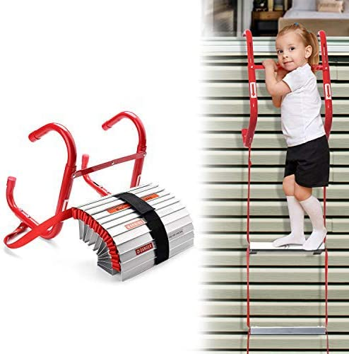 13-Foot Pack of 2 468193 KL-2S Two-Story Fire Escape Ladder with Anti-Slip Rungs