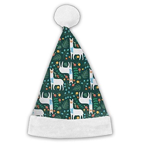 ChengGo Llama Animal Naughty Santa Hat  Durable For Child Elf Christmas Hat New Year's Day by ChengGo