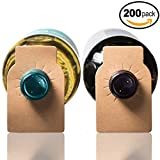 Wine Bottle Tags Kraft Paper - 200 Count - Wine Cellar Labels by Home Affinity