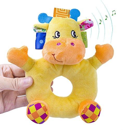 Little Monkey Plush Baby Ring Rattle Toy Lovely Infant Baby Rattles Toys Baby Soft Toys Animails Toy Infant Hand Toys Baby Developmental Toys