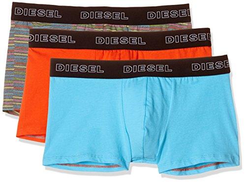 (Diesel Men's UMBX-Shawnthreepack Boxer 3pack Stripes, Blue/Orange, L)
