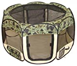 Best Pet Folding Play Pen - Medium - Camouflage