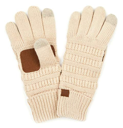 G2-6020a-60 Knitted Lined Gloves - Beige ()