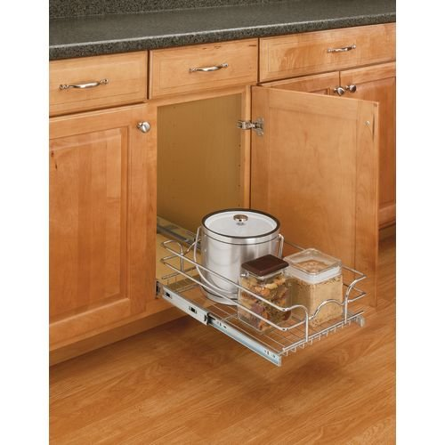 Rev-A-Shelf - 5WB1-1220-CR - 12 in. W x 20 in. D Base Cabinet Pull-Out Chrome Wire Basket