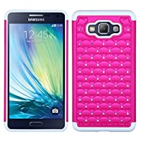 Asmyna Asmyna FullStar Protector Cover for SAMSUNG A700-Galaxy A7 - Retail Packaging - Hot Pink/Solid White