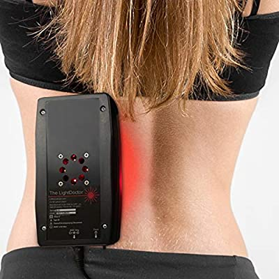 The LightDoctor Near Infrared Red and LED Light Therapy Relief for Neck Pain, Back Pain and Arthritis with Safety Timer & Custom Carrying Case, FDA Cleared