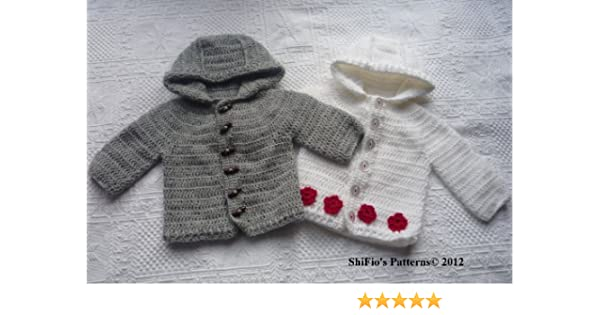 781dc4fdd Amazon.com  Crochet Pattern - CP206 - Baby Boys Girls Jacket ...
