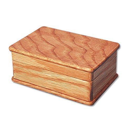 Bits and Pieces - Secret Sliding Box Brainteaser Puzzle - Wooden Puzzle Money Box - Lock Up Box - Box Measures 4-1/2