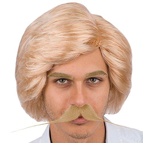 70er años de éxito de los hombres sin barba la peluca de la ...