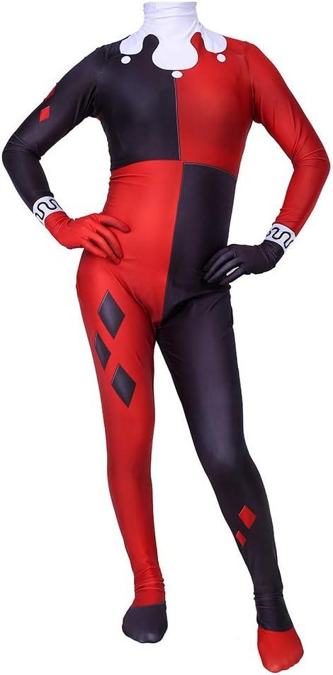 CHXY Harley Quinn NiñO Adulto Ropa Cosplay Vestido Halloween ...