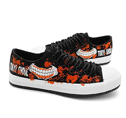 Bromeo Tokyo Ghoul Unisexe Toile Low-Top Sneaker Baskets Mode Chaussures Lumineux