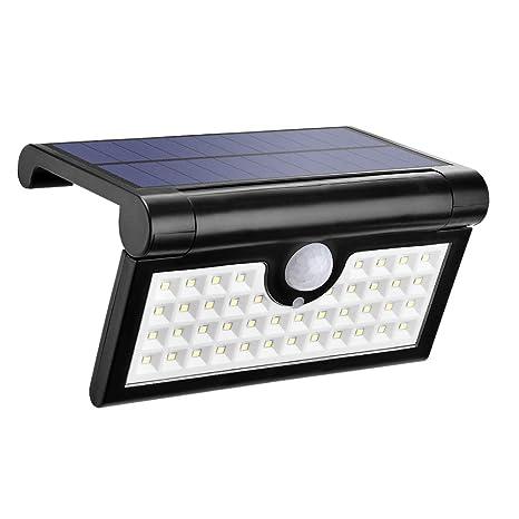 Luz Solar Con Sensor Movimiento, Foco Plegable Con 42 Piezas Led Bombillas, Lampara Exterior