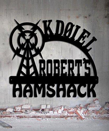 Ham Radio - Amateur Radio - Call Letters - Hamshack - Custom Metal Sign - 23 x 20.25 Hand Made USA