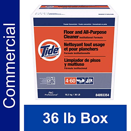 - Floor and All-Purpose Cleaner from Tide Professional, Bulk Multi-Surface Powder for Floors and Walls, Commercial Use, Phosphate Free, 36 lb. Box