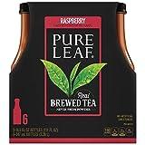 Pure Leaf Iced Tea, Raspberry Black Tea, 18.5 oz (Pack of 6)