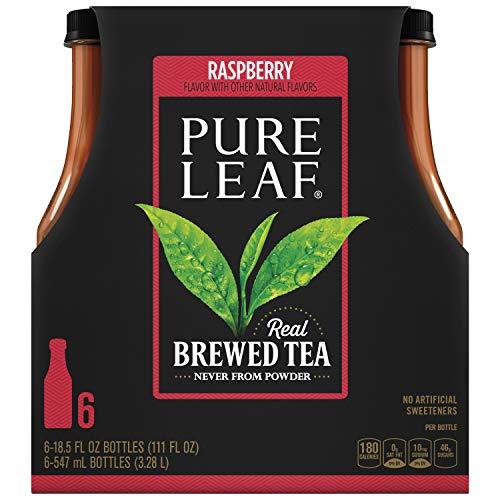 Pure Leaf Iced Tea, Raspberry Black Tea, 18.5 oz (Pack of 6) -