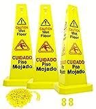 "Reliable1st 3 Packs 26"" Caution Wet Floor Cones"