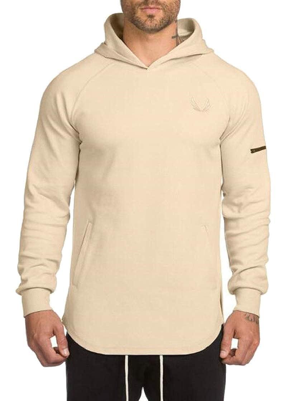 Etecredpow Mens Pullover Slit Active Running Trendy Hooded Sweatshirts Jacket