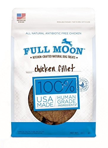 Protein Chicken Fillet - Full Moon 48-ounce XL Bag All Natural Human Grade Dog Treats Chicken Fillet