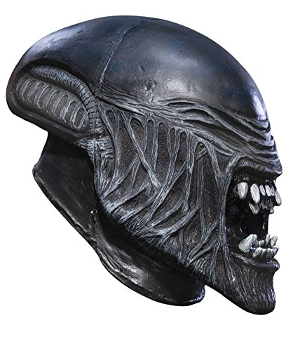 Scary-Masks Child Alien Vinyl Mask Halloween Costume - Most Adults (Alien Child Mask)
