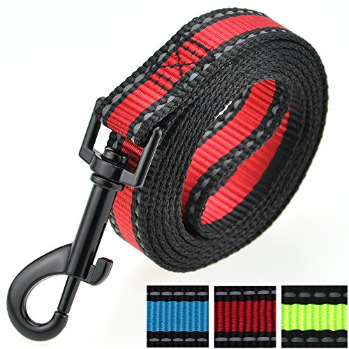 eash | RED| Reflective 3M Stripe with Nylon Band |(Red Leash, Small Neck 12