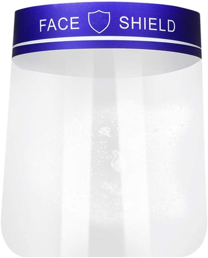 2 Piezas de protección Transparente de protección Facial, máscara de protección Ajustable de escupida Resistente a la Visera Ancha, para el hogar y al Aire Libre