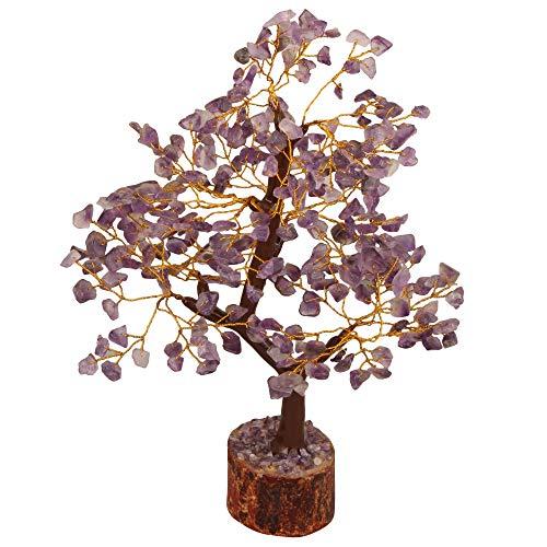 YATHABI Gemstone Tree Feng Shui Bonsai for Crystal Energy Generator Chakra Balancing Reiki Healing EMF Protection Size:- 10-12 Inch