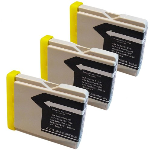 Inkcool 3 Pack Compatible with Brother LC51BKS - Black Ink Cartridge for for Brother DCP-130c 330c 350C Intellifax 1360 1860C 1960c 2480C 2580c MFC-230C, 240C 3360C 440CN 465cn 5460CN 5860CN 665CW (LC51 BK) (Inkjet 560c)