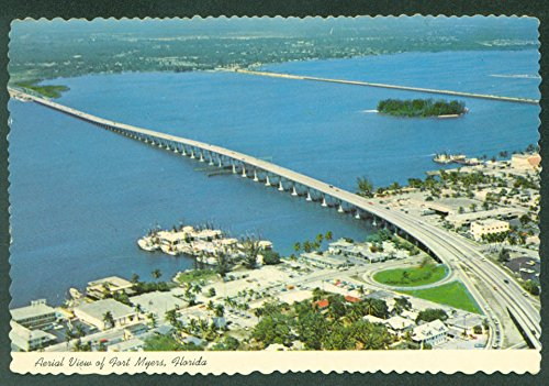 FORT MYERS FLORIDA Bridges Caloosahatchee River Aerial View Continental - Fort Myers Stores