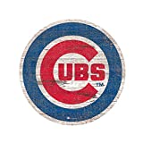 """Fan Creations Chicago Cubs 24"""" Distressed Logo Cutout Sign"""