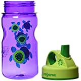 Nalgene Grip-N-Gulp Childrens BPA free Dishwasher Safe Tritan Water Bottle, Sea Turtles