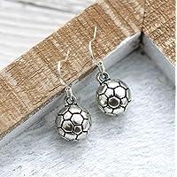Soccer Earrings for Girls Sterling Silver Hooks - Soccer Team Gifts - Soccer Themed Jewelry for Soccer Mom - Fast Shipping