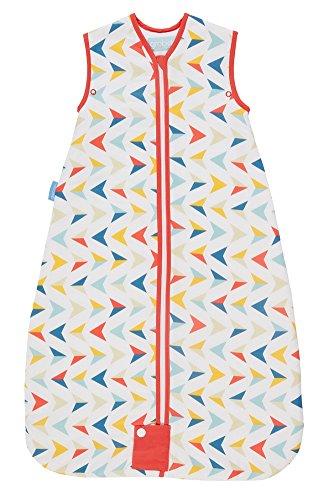 Grobag - Saco de dormir para bebé (100% algodón, 1,0 tog de verano), diseño de flechas multicolor Talla:6-18 meses: Amazon.es: Bebé